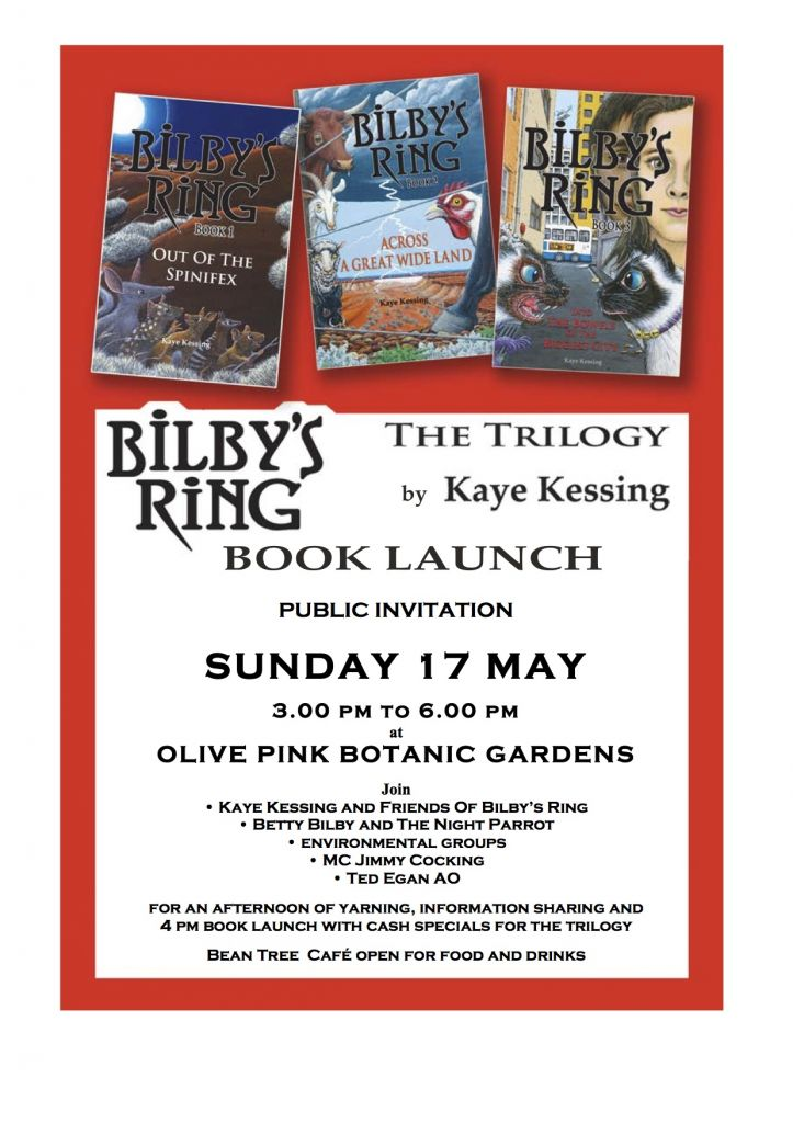 Kaye Kessing S Bilby S Ring Trilogy Book Launch For 8