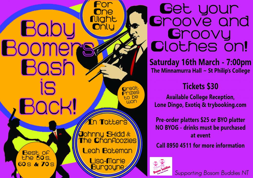 Baby Boomers Bash (16th Mar 2019) · Alice Springs ...